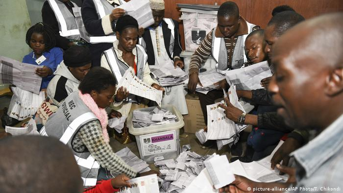 Votes being counted after the Malawi election