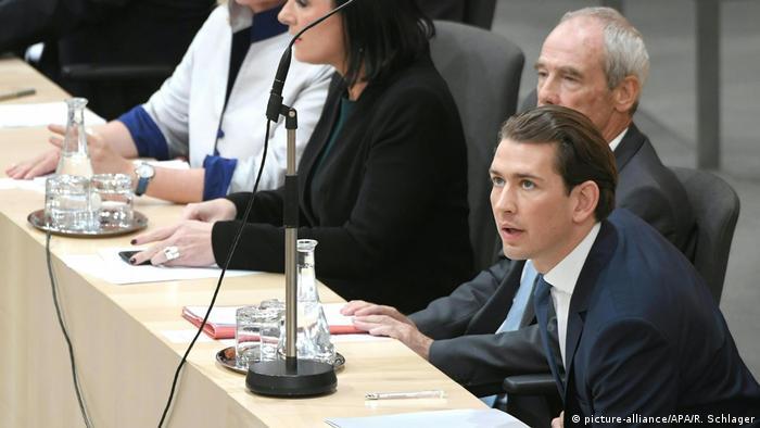 Канцлер Себастьян Курц на голосовании в парламенте по вотуму о недоверии