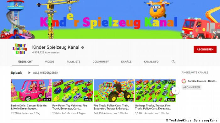 YouTube Screenshot - Kinder Spielzeug Kanal (YouTube/Kinder Spielzeug Kanal)