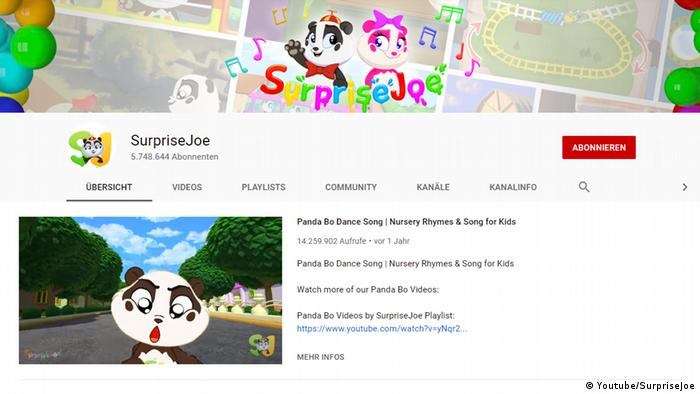 YouTube Screenshot - SurpriseJoe : Ein animierter Pandbär
