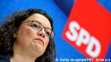Deutschland | PK Andrea Nahles (SPD) | Europawahlen 2019