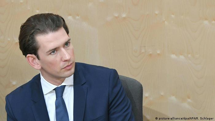 O agora ex-chanceler federal da Áustria Sebastian Kurz