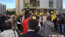Moskau Protest gegen Renovation-Baupläne in Swiblowo-Bezirk
