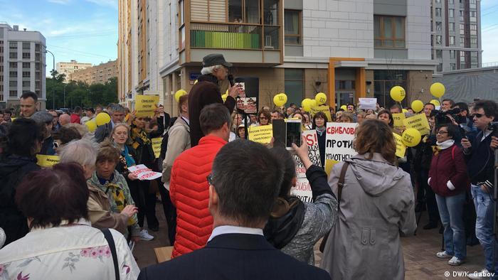 Митинг против реновации в Свиблово