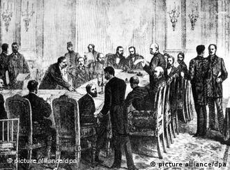 A la conférence de Berlin, le Roi des Belges Léopold II prend possession des ressources du Congo