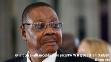 President Mutharika visit to Scotland. President of Republic of Malawi, Peter Mutharika during his address at the Scottish parliament in Edinburgh, Scotland. Picture date: Thursday April 26, 2018. See PA story SCOTLAND Malawi. Photo credit should read: Fraser Bremner/Scottish Daily Mail/PA Wire URN:36197773 |
