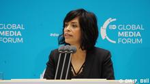 DW Global Media Forum 2019   Freedom of Speech Award 2019   2019 Winner: Anabel Hernández (Journalist, Mexico) © DW/P. Böll
