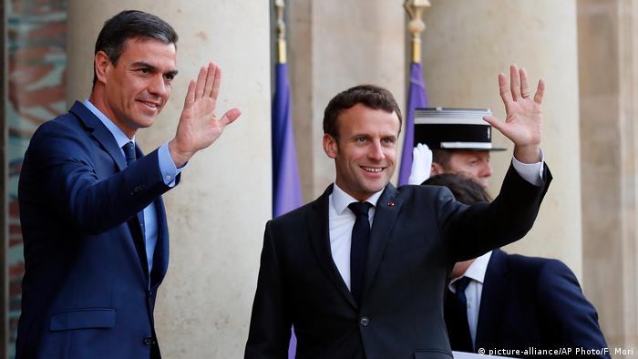 Emmanuel Macron i Pedro Sanchez prilikom susreta u svibnju 2019.