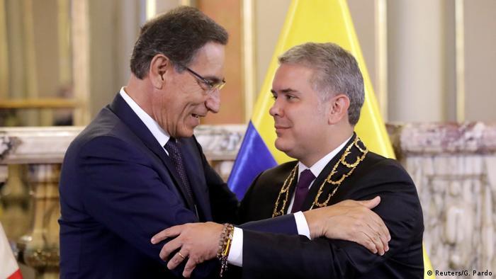 Peru Präsident Martin Vizcarra trifft Kolumbiens Präsident Ivan Duque in Lima (Reuters/G. Pardo)