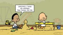 DW Euromaxx Comics von Fernandez That´s so german Sandburgen ENGLISCH
