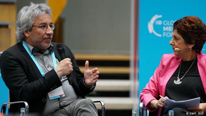 Can Dündar auf dem Global Media Forum der Deutschen Welle in Bonn
