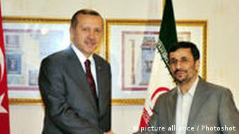 (091109) -- ISTANBUL, Nov. 9, 2009 -- Turkish Prime Minister Recep Tayyib Erdogan (L) meets with Iranian President Mahmoud Ahmadinejad in Istanbul of Turkey Nov. 8, 2009. Ahmadinejad was in Istanbul for the Economic and Commercial Cooperation (COMCEC) meeting of the Organization of the Islamic Conference (OIC). Anadolu) (yc)