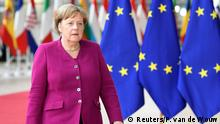 German Chancellor Angela Merkel arrives at a European Union leaders summit after European Parliament elections to discuss who should run the EU executive for the next five years, in Brussels, Belgium May 28, 2019. REUTERS/Piroschka van de Wouw