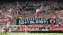 Fußball 50+1 Protest | VfB Stuttgart - FC Bayern München