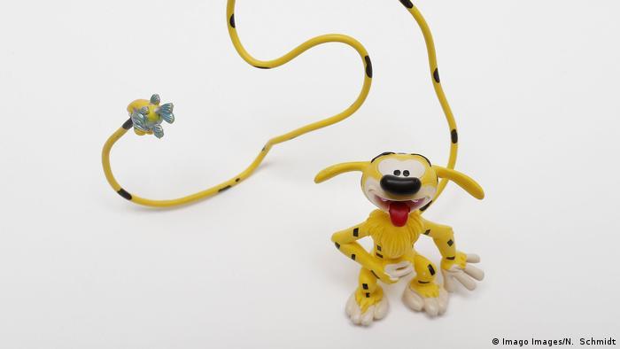 Die Comicfigur Marsupilami als Spielfigur (Imago Images/N. Schmidt)