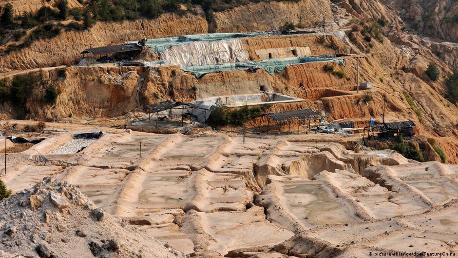 中國的稀土開采礦區