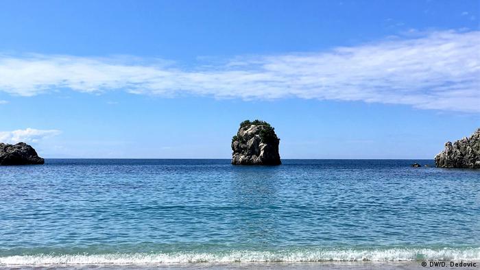 Parga Griechenland Stadtansicht Strand