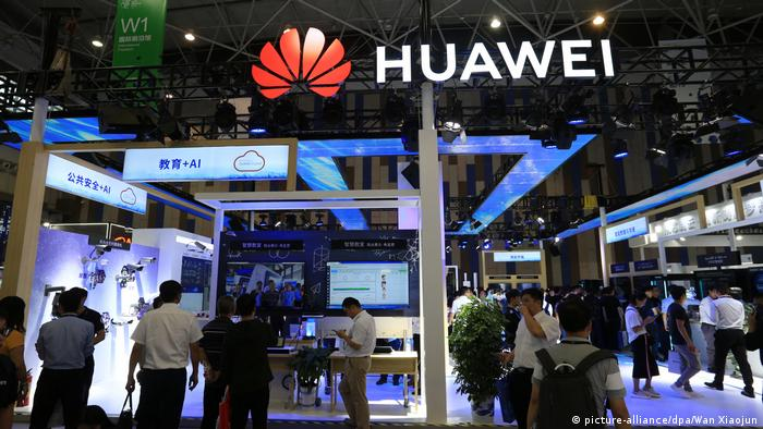 The Huawei stand at the Big Data Industry Expo, Guiyang city, in May