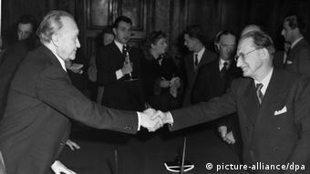 Deutschland Italien Konrad Adenauer Alcide de Gasperi