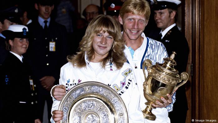 Steffi Graf und Boris Becker Wimbledon Sieger 1989 (Imago Images)