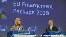 Belgien EU-Beitrittsverhandlungen   Federica Mogherini und Johannes Hahn