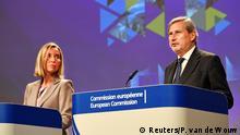 Belgien EU-Beitrittsverhandlungen | Federica Mogherini und Johannes Hahn