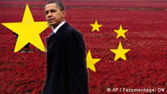 Obama in front of China symbol
