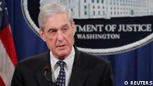 U.S. Special Counsel Mueller speaks about Russia investigation at the Justice Department in Washington