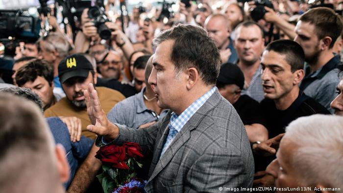Михаил Саакашвили по прибытии в Киев