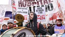 Argentinien Streik in Buenos Aires