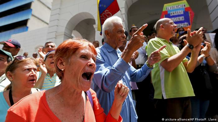 Venezuela Protesters in Caracas