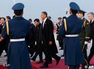 """奥巴马访问北京时采取了""""悄声""""策略"""