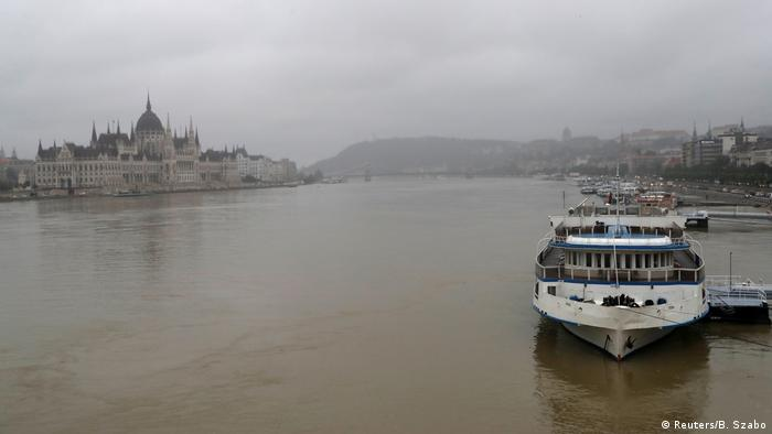 A general view shows the Danube river in Budapest