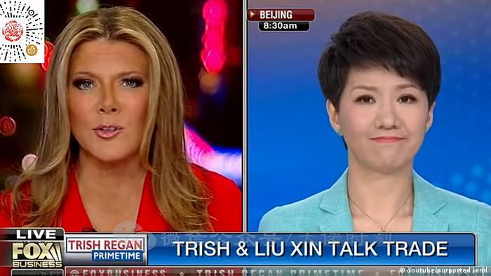 TV Debatte Trish und Liu Xin China USA Handel