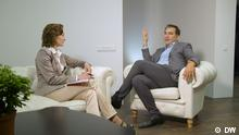Michail Saakaschwili im DW-Interview, Studio Kiew