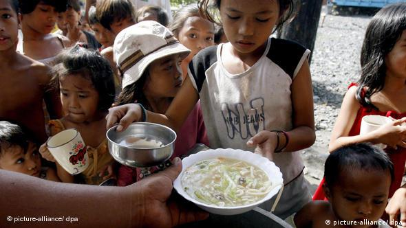 Hungry children in Asia