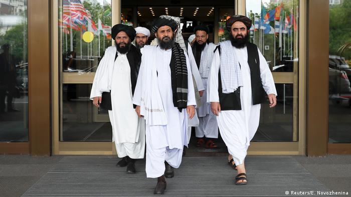 Члени делегації Талібану під час мирних переговорів у Москві. Архівне фото