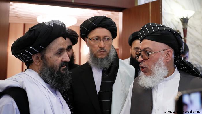 عکس از آرشیف: اعضای دفتر سیاسی طالبان