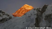 Himalaya Blick auf den Mount Everest Lichtstimmung