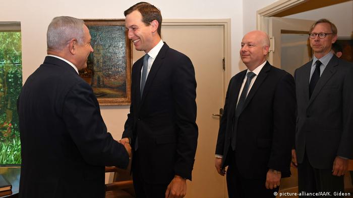 Jerusalem Jared Kushner &Jason Greenblatt bei Netanjahu