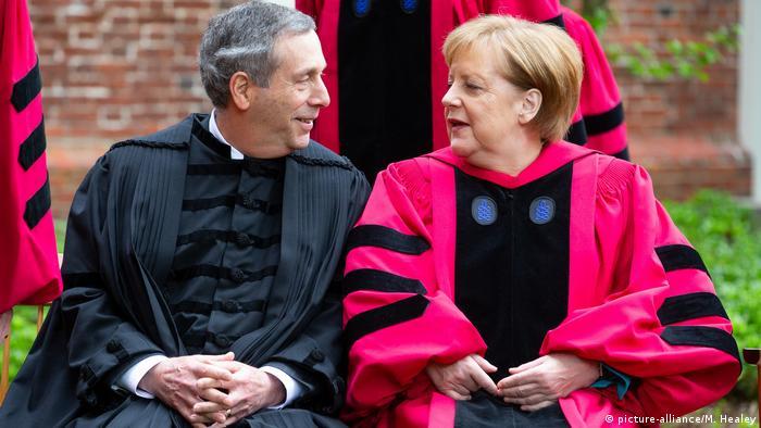 Angela Merkel zu Gast bei der Harvard University