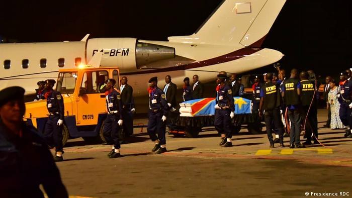 Ankunft der sterblichen Überreste von Etienne Tshisekedi, dem Vater des Präsidenten des Kongo, Felix Tshisekedi, in Kinshasa