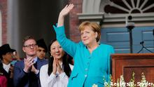 USA Harvard Universität - Angela Merkel