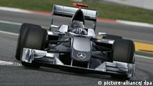 Computersimulation Mercedes Formel 1-Rennwagen