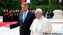 Bukarest Papstempfang Staatspräsident Klaus Iohannis