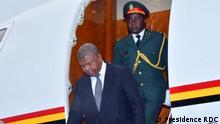 Kinshasa, 31. Mai 2019+++Ankunft vom angolanischen Präsidenten João Lourenço in Kinshasa. Er wurde am internationalen Flughafen Ndjili (Kinshasa) von der Präsidentin der Nationalversammlung, Jeanine Mabunda, begrüßt.