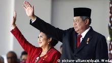 Indonesien Präsident Susilo Bambang Yudhoyono und Frau Ani Yudhoyono