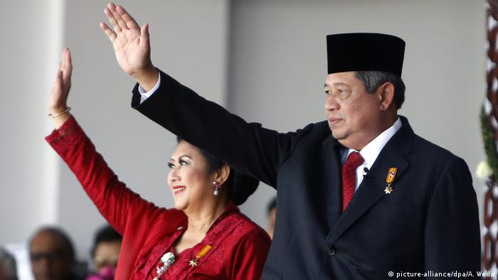Indonesien Präsident Susilo Bambang Yudhoyono und Frau Ani Yudhoyono (picture-alliance/dpa/A. Weda)