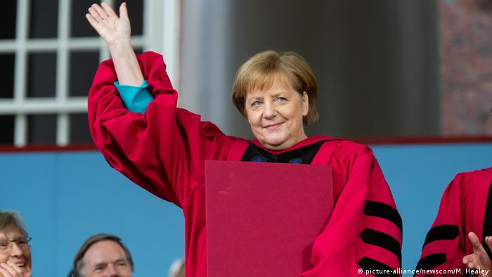 USA Bundeskanzlerin Angela Merkel in Harvard