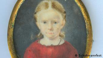 Colored painting of Clara Schumann as a young girl (Schuhmannfest)